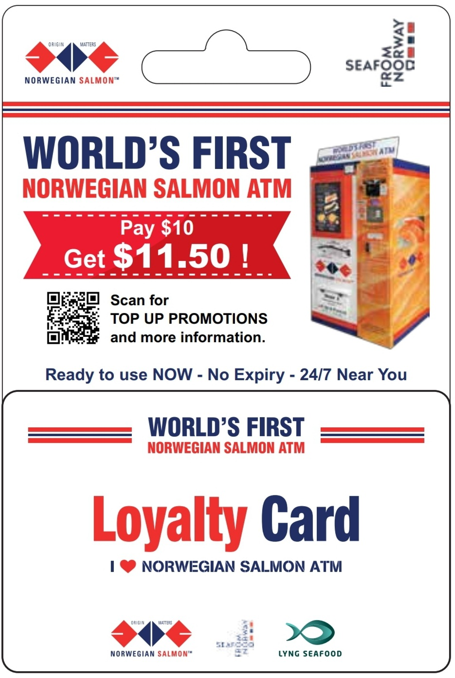 Salmon ATM Prepaid Physical Card (includes $11.50 credit)